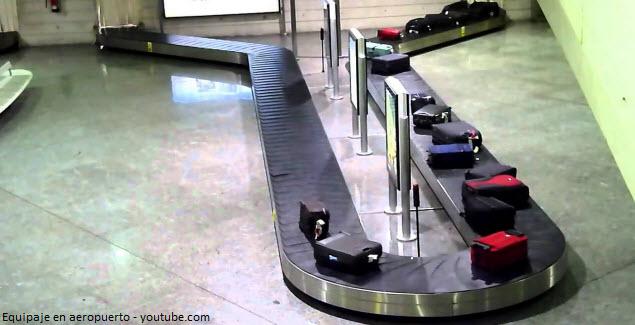 llegada de maletas al aeropuerto