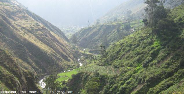 Paisajes de Matucana en Lima