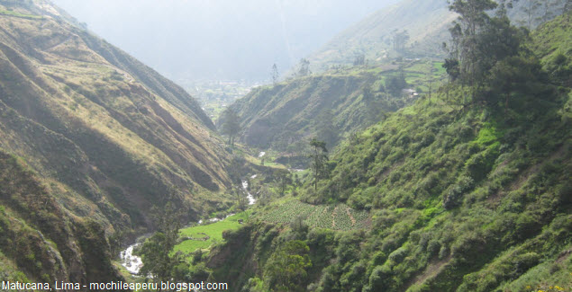 Landscapes of Matucana in Lima