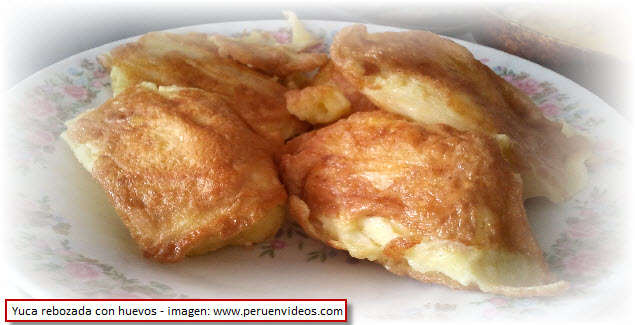 recipe of breaded yuca with egg