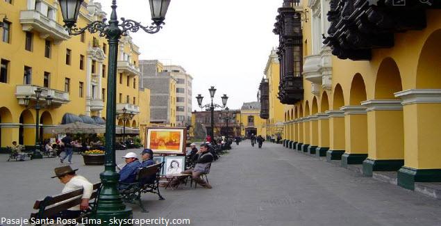 pasaje Santa Rosa en Lima