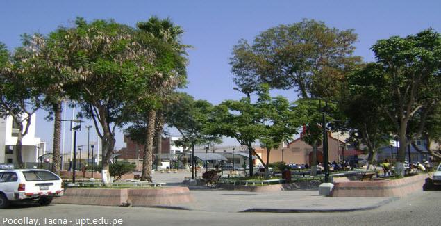 Plaza de Armas of Pocollay in Tacna