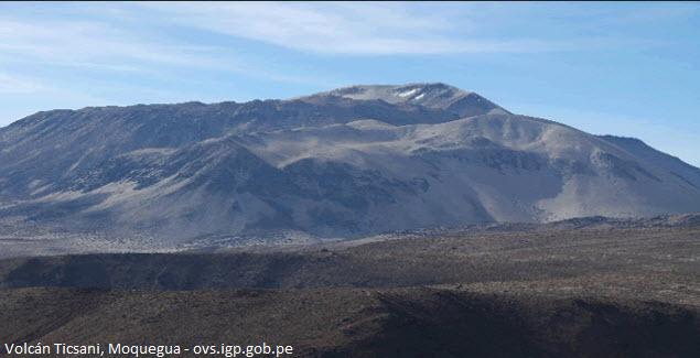 Ticsani volcano in Moquegua