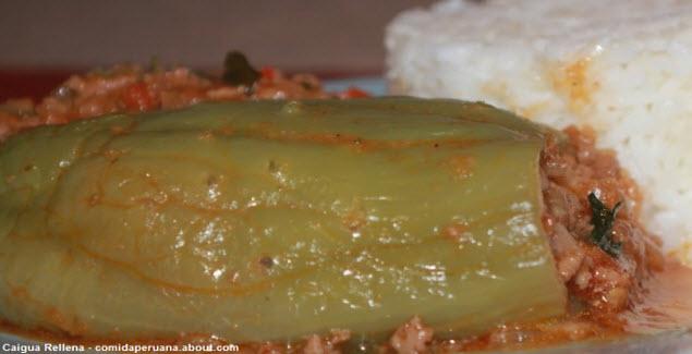 cuisine Peruvian stuffed caigua