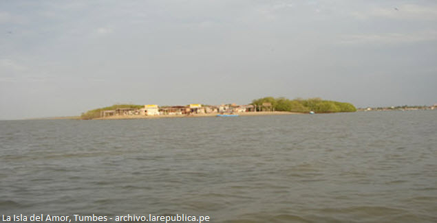 Island in the mangroves of Tumbes