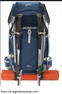 Manera correcta de llevar los palos de trekking en la mochila