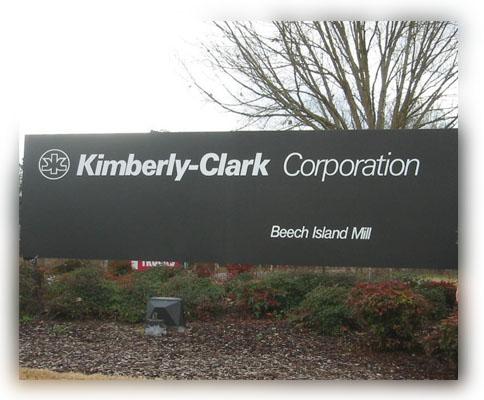 letrero Kimberly Clark