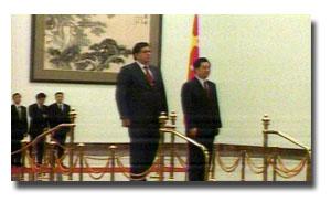 Alan García y su homólogo chino
