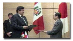 Alan García y el Primer Ministro japonés