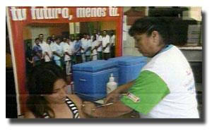 """Vacunación contra hepatitis """"B"""""""