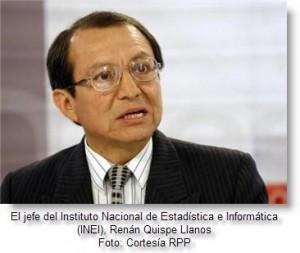 Foto de Renán Quispe, jefe del INEI 2008
