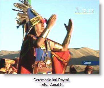 Escenifican el Inti Raymi en el Cusco