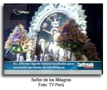 Señor de los Milagros, Cristo Moreno, procesion en Lima - noticias
