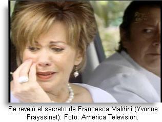 Francesca Maldini su secreto revelado final Al Fondo Hay Sitio