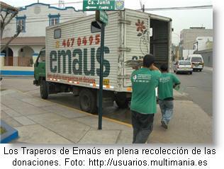 Traperos de Emaús - donación de cosas usadas
