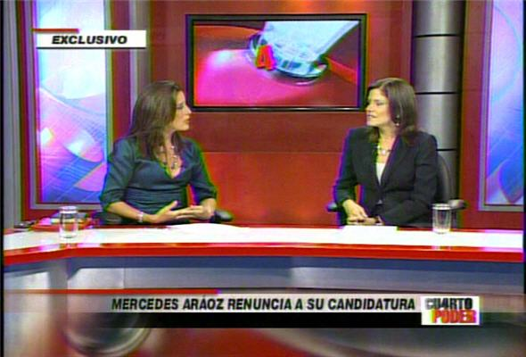 Mercedes Araóz en vivo renuncia candidatura presidencial