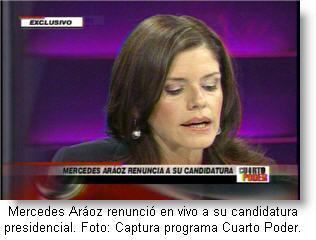 Mercedes Aráoz renunció a candidatura presidencial con el APRA