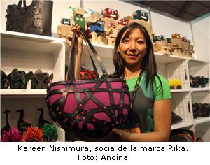 empresaria que exporta diseños peruanos reciclados