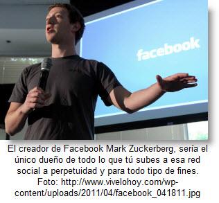 Mark Zuckerberg es el dueño de todo lo que tú publicas en Facebook