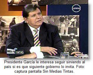 García dijo que aceptaría invitaciones de próximo gobierno peruano.