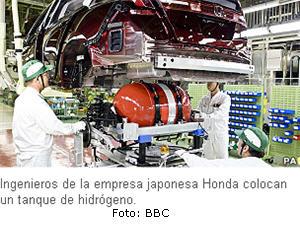 Auto japonés Honda que funciona con hidrógeno