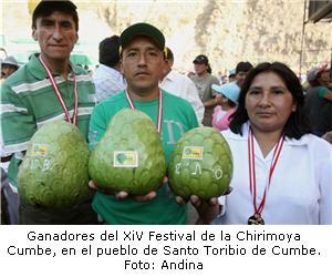 Ganadores de XIV festival de la chirimoya