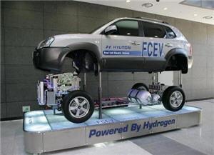 Auto que funciona con hidrógeno como combustible