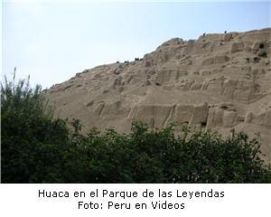 Huaca en el Parque de las Leyendas, en San Miguel, Lima