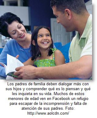A mayor diálogo entre padres e hijos, menor riesgo en las redes sociales.