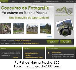 Concurso de fotografía de Machu Picchu