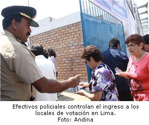 Lugar de votación en elecciones 2011 segunda vuelta