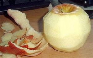 Cáscara de manzana es beneficioso a la salud