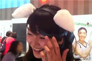 Necomimi, orejas de peluche que muestra el estado de ánimo