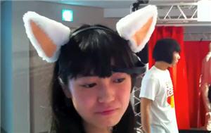 Necomimi, orejas de peluche que muestra estado de ánimo