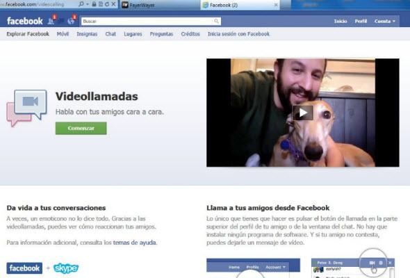 Facebook ahora con videollamadas gracias a Skype