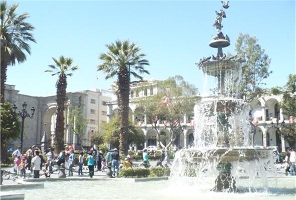 Plaza de Armas de Arequipa.