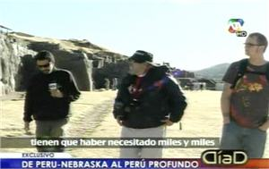 Bill Clemente y Logan Merz en Sacsayhuamán