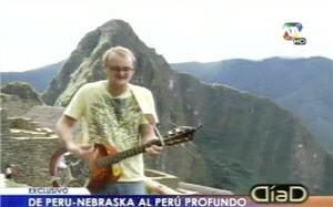 Logan Merz en Machu Picchu