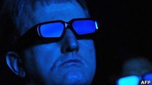 espectadores de una película en 3D
