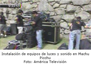 preparativos en Machu Picchu