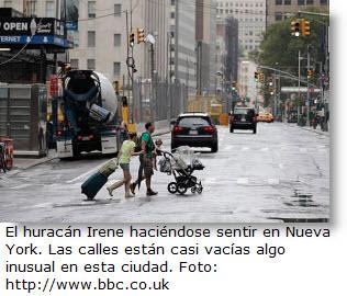 El huracán Irene ya se empieza a sentir en Nueva York.