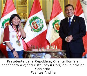 Deysi Cori y Presidente Ollanta Humala