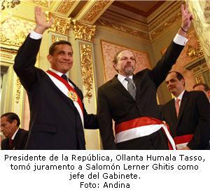 Salomón Lerner Ghitis y Ollanta Humala