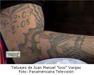 Tatuajes de Juan Manuel Vargas