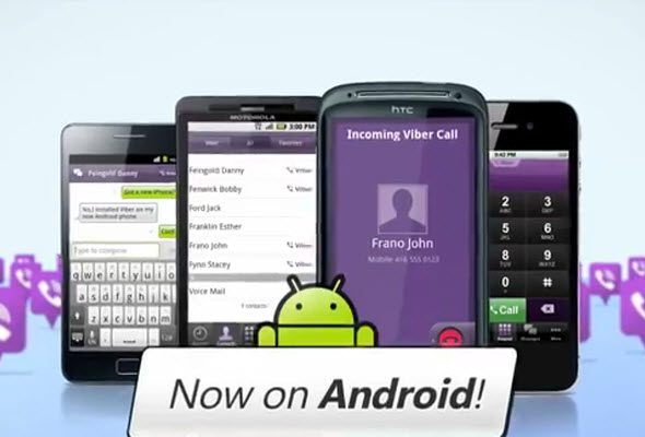 Viber funciona con Android para llamadas gratis.