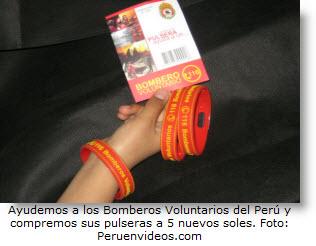 Ayudemos a los Bomberos Voluntarios del Perú. Compra una pulsera.