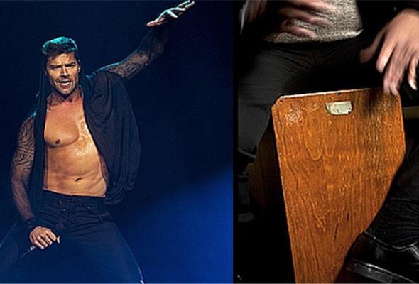 Cajón peruano en concierto de Ricky Martin