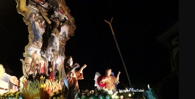 Fiesta Patronal Señor de las Ánimas en procesión en Conchucos, Ancash