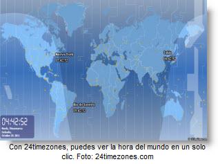 Mira la hora de todo el mundo en un Mapa Mundi - Atlas con reloj mundial
