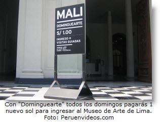 """Con """"Dominguearte"""" visita el Museo de Arte de Lima a un nuevo sol - Noticias"""